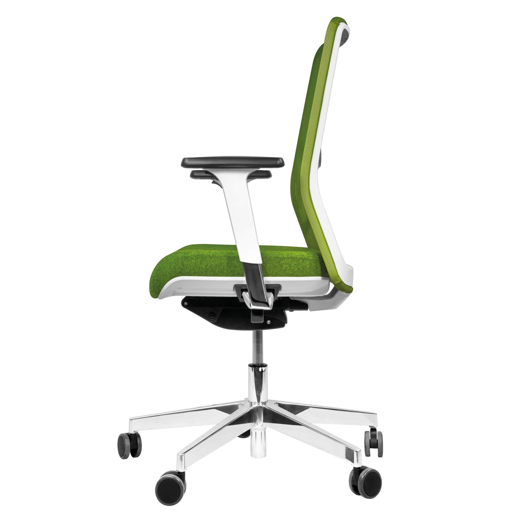 Bürodrehstuhl WIND Grün - Ergonomischer Premiumdrehstuhl - Bürostuhl - Drehstuhl
