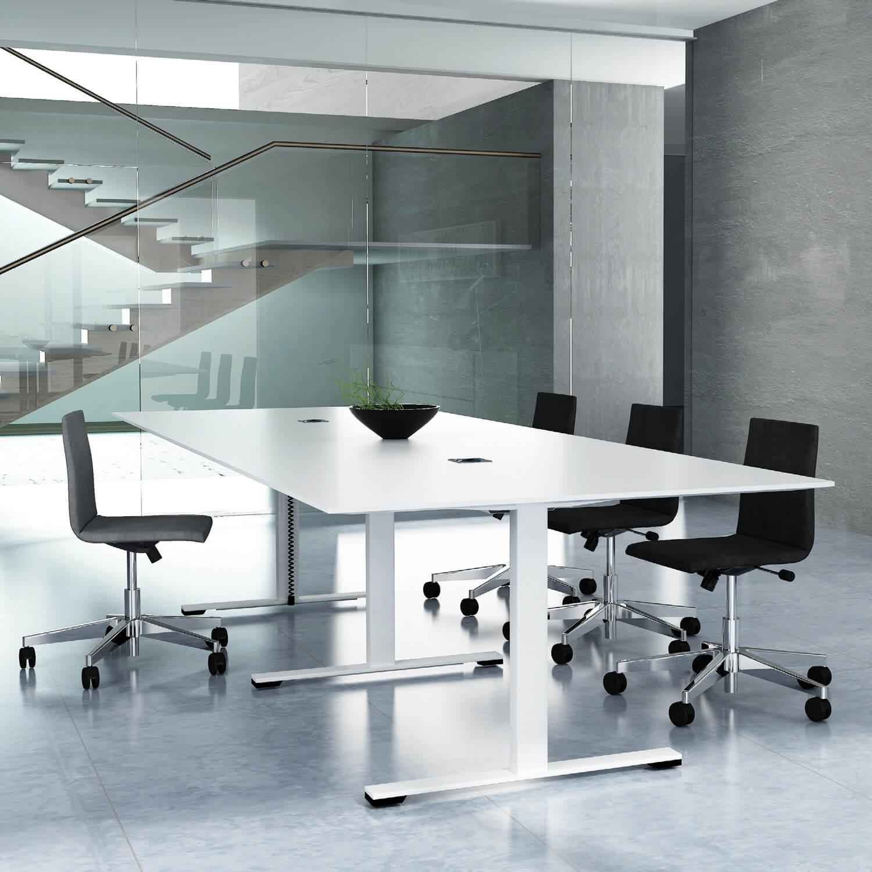 JAZZ Konferenztisch 200 x 120 cm Weiß Besprechungstisch Meetingtisch Tisch