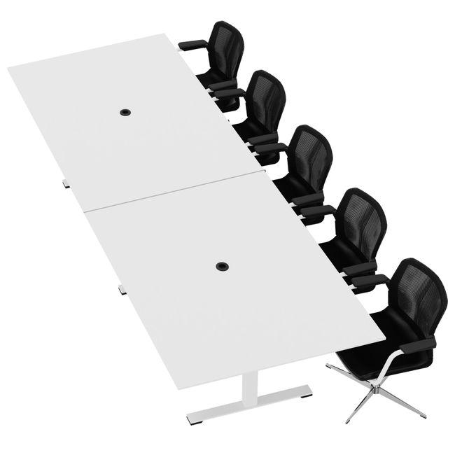 JAZZ Konferenztisch   3200 x 1200 mm, Weiß