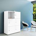 Spind | Schließfach NOVA mit 6 Fächern, (BxH) 800 x 1.092 mm, Weiß