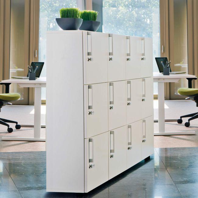 Spind | Schließfach NOVA mit 6 Schließfächern, (BxH) 800 x 1.092 mm, Ahorn-Weiß – Bild 4