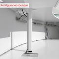 Empfangstheke CADIZ mit LED-Beleuchtung aus der Serie eMel 2.370 x 1.702 mm runde Theke