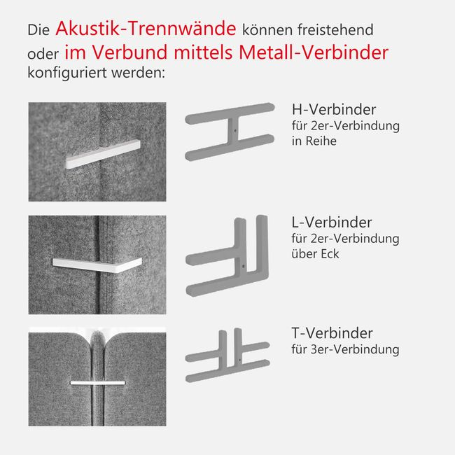 Akustik-Trennwand FREE STANDING BERTA – Bild 10