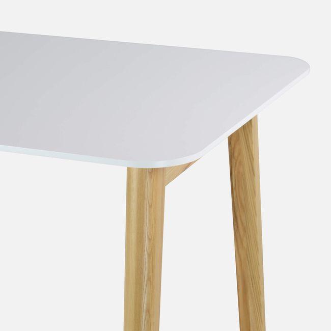 Schreibtisch NOVA Wood HPL 1.800 x 800 mm Weiß mit Holzgestell Skandi Design  – Bild 4