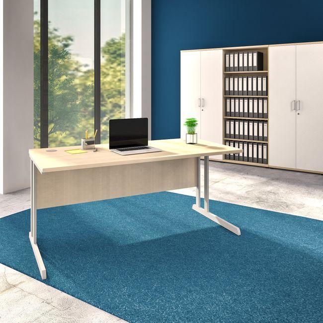 OPTIMA Schreibtisch Ahorn 160x80cm Bürotisch Arbeitstisch
