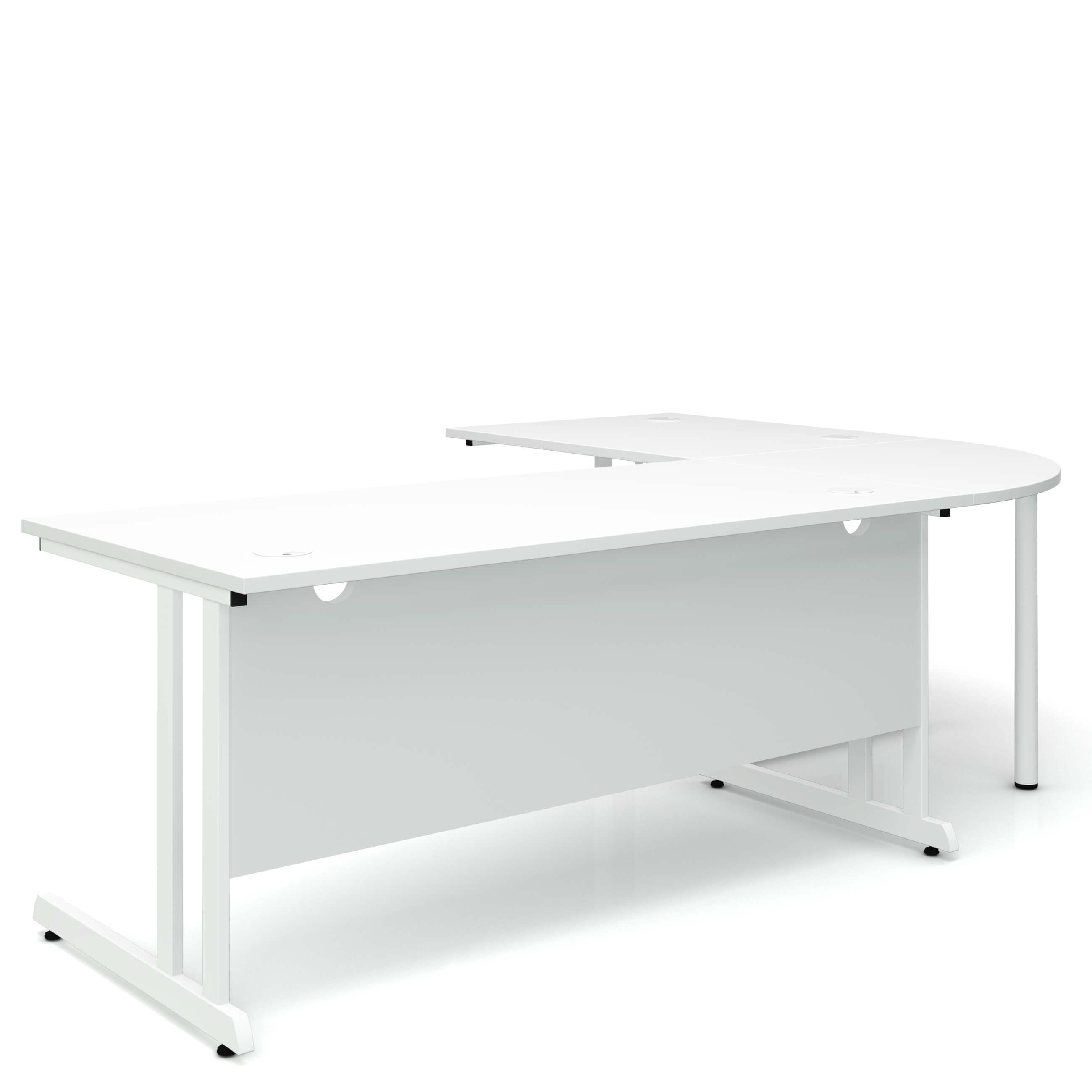 Winkelschreibtisch Computertisch Eckschreibtisch 240x 180 cm Weiß OPTIMA C