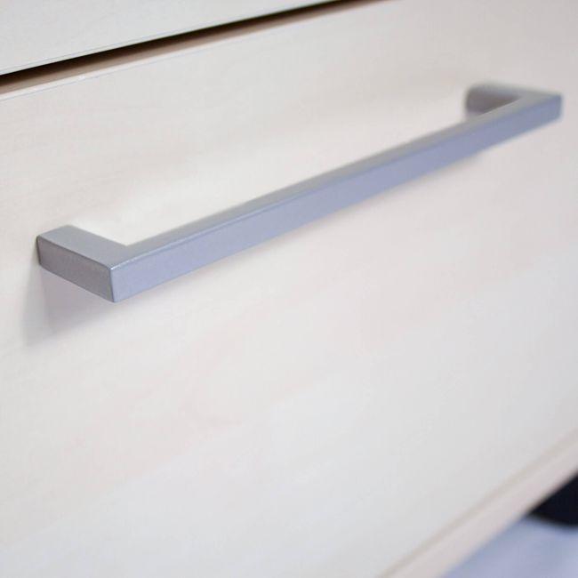 NOVA Winkelkombination | Mit Standcontainer, Winkel links, 1800 x 1630 mm, Ahorn