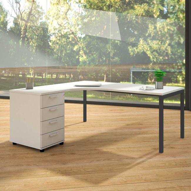 Winkelkombination links NOVA 1.800 x 1.630 mm Standcontainer Weiß – Bild 2