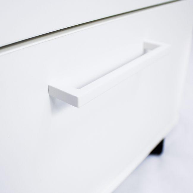 NOVA Winkelkombination | Mit Standcontainer, Winkel links, 1800 x 1630 mm, Weiß