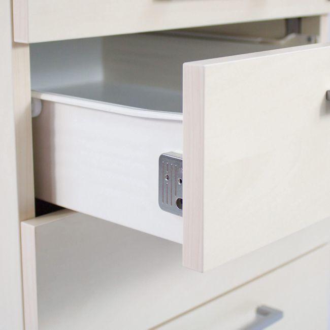 Winkelkombination rechts NOVA 1.800 x 1.630 mm Standcontainer Ahorn – Bild 6