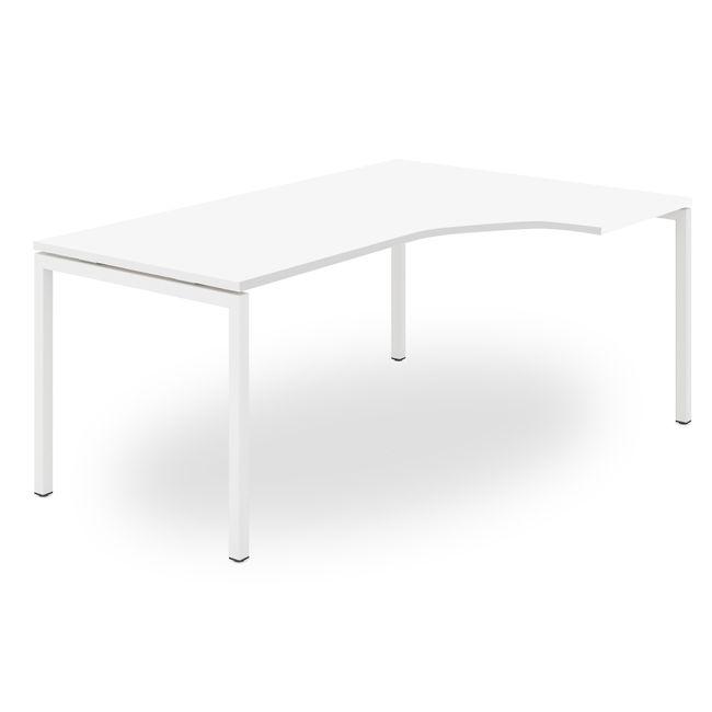 Winkelkombination rechts NOVA 1.800 x 1.630 mm Standcontainer Weiß – Bild 4