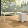 Winkelkombination rechts NOVA 1.800 x 1.630 mm Standcontainer Weiß