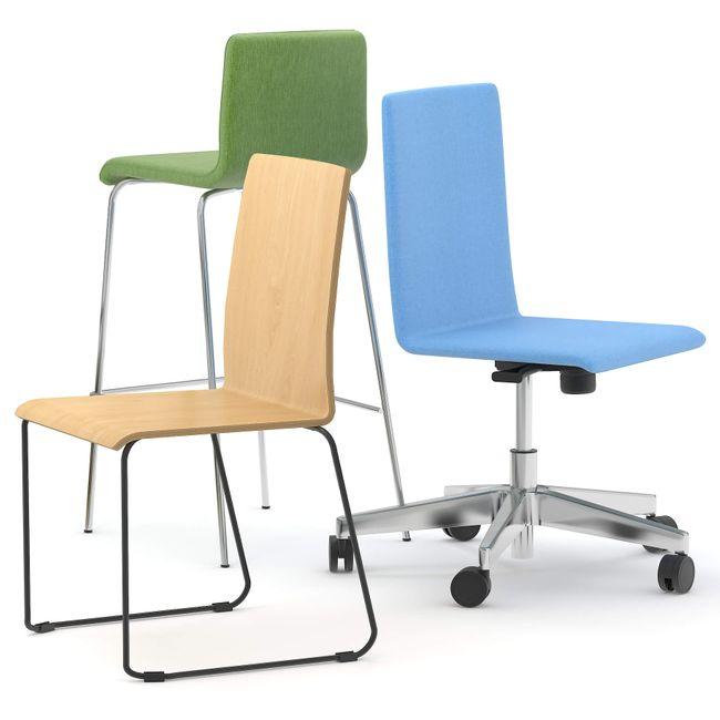 Bürodrehstuhl MOON mit Wollbezug – Bild 4