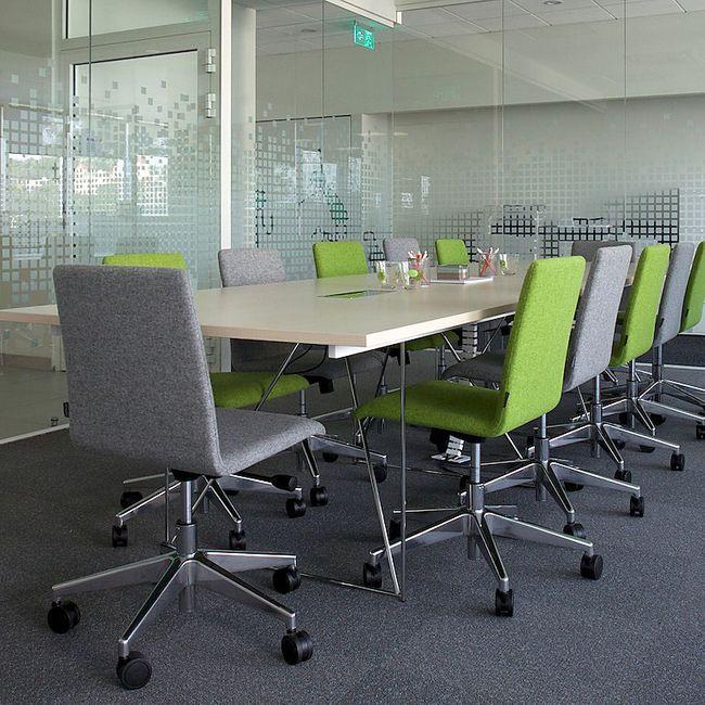Bürodrehstuhl MOON mit Wollbezug – Bild 5