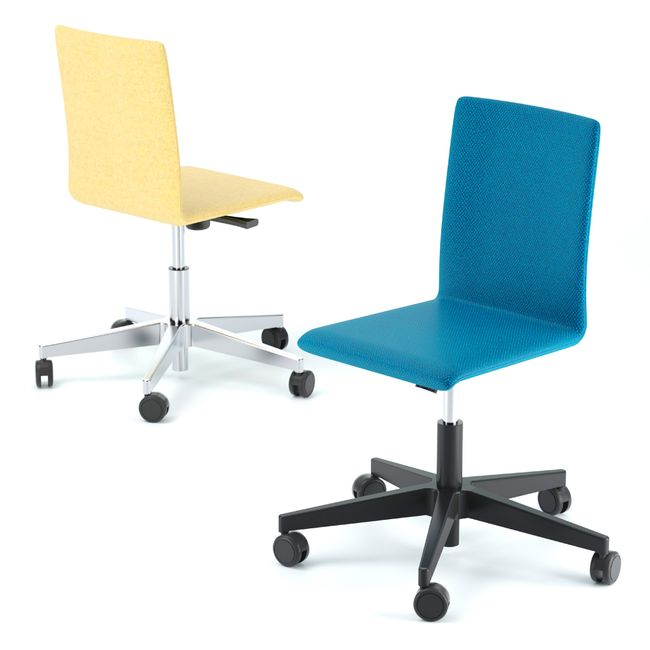 Bürodrehstuhl MOON mit Wollbezug – Bild 1