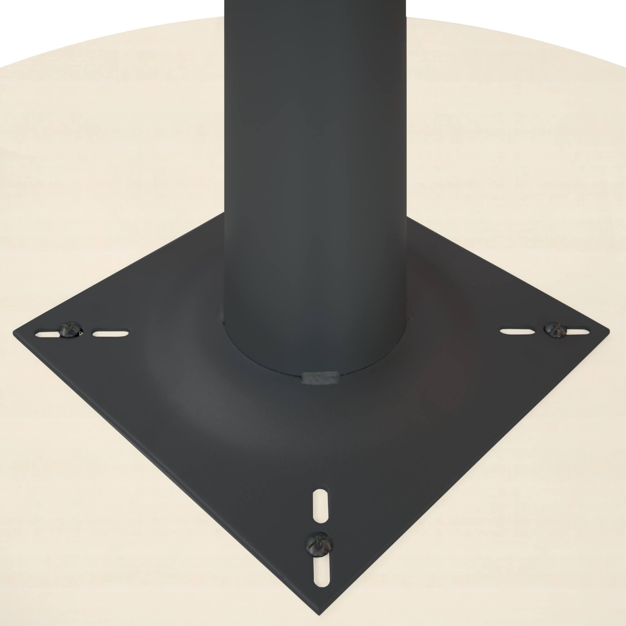 OPTIMA runder Besprechungstisch Ø 80 cm Ahorn Anthrazites Gestell Tisch Esstisch