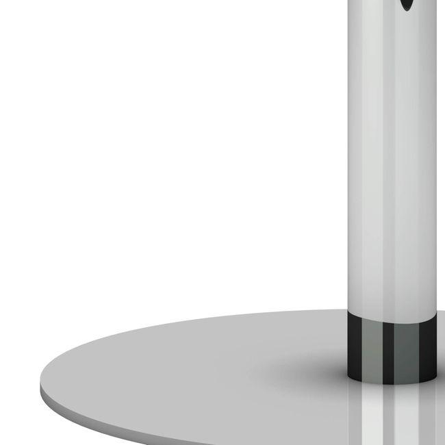 OPTIMA Besprechungstisch   Rund, Gestell Chrom, Ø 800 mm, Perlgrau