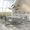 EASY Konferenztisch   Elektrifiziert, 2400 x 1200 mm (8 - 10 Personen), Perlgrau