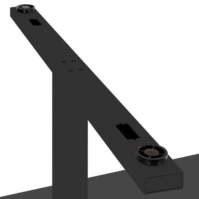 Konferenztisch Bootsform EASY 1.800 x 1.000 mm Anthrazit 6 - 8 Personen  – Bild 14