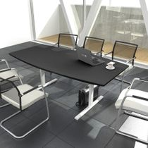 Konferenztisch Bootsform EASY 1.800 x 1.000 mm Anthrazit 6 - 8 Personen