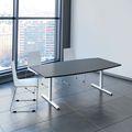 Konferenztisch Bootsform EASY 2.000 x 1.000 mm Anthrazit 6 - 8 Personen