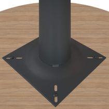 Besprechungstisch rund OPTIMA Ø 800 mm Bernstein-Eiche, Gestell Anthrazit