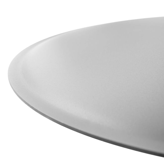 OPTIMA Besprechungstisch   Rund, Gestell Silber, Ø 800 mm, Nussbaum