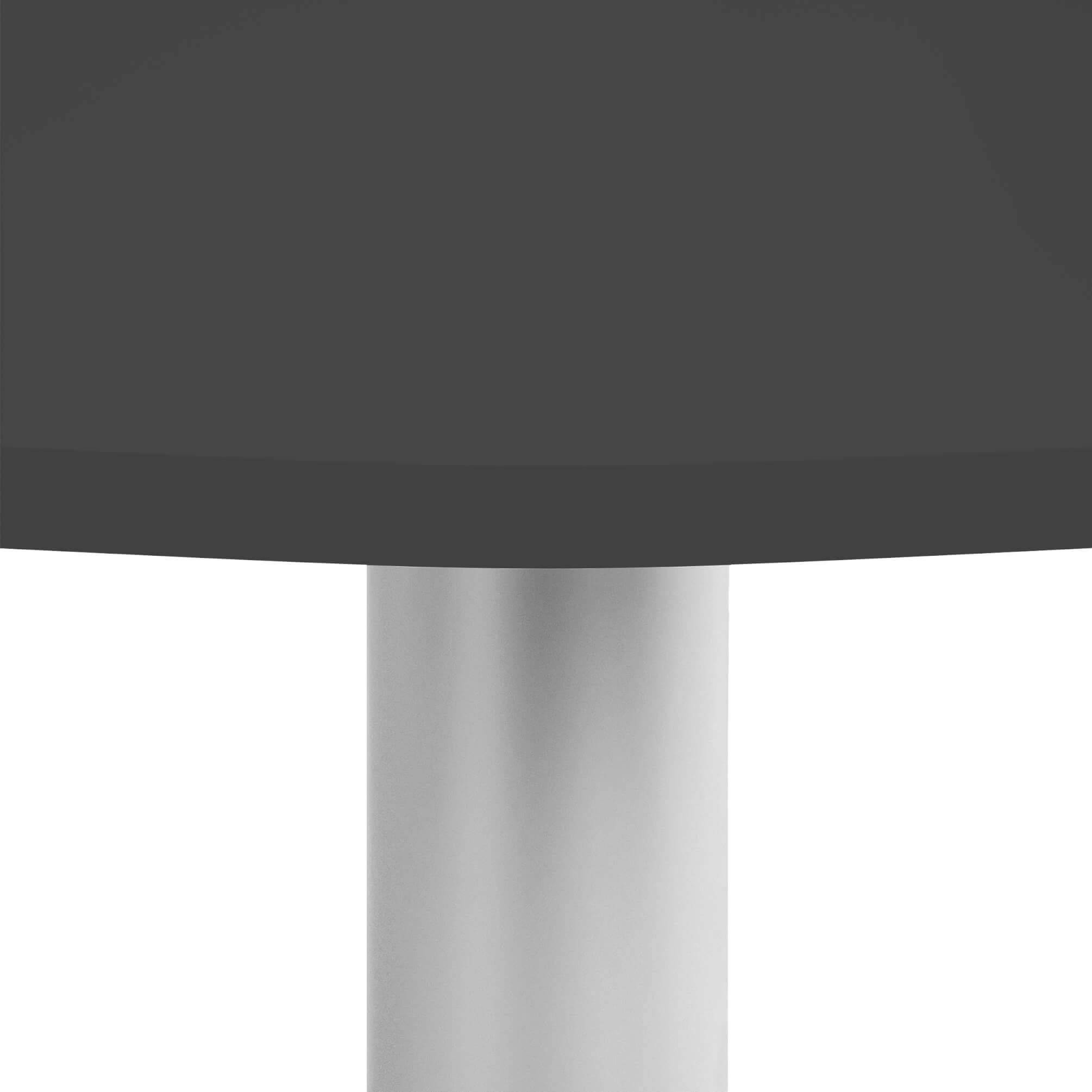 OPTIMA runder Besprechungstisch Ø 100 cm Anthrazit Silbernes Gestell Tisch Esstisch