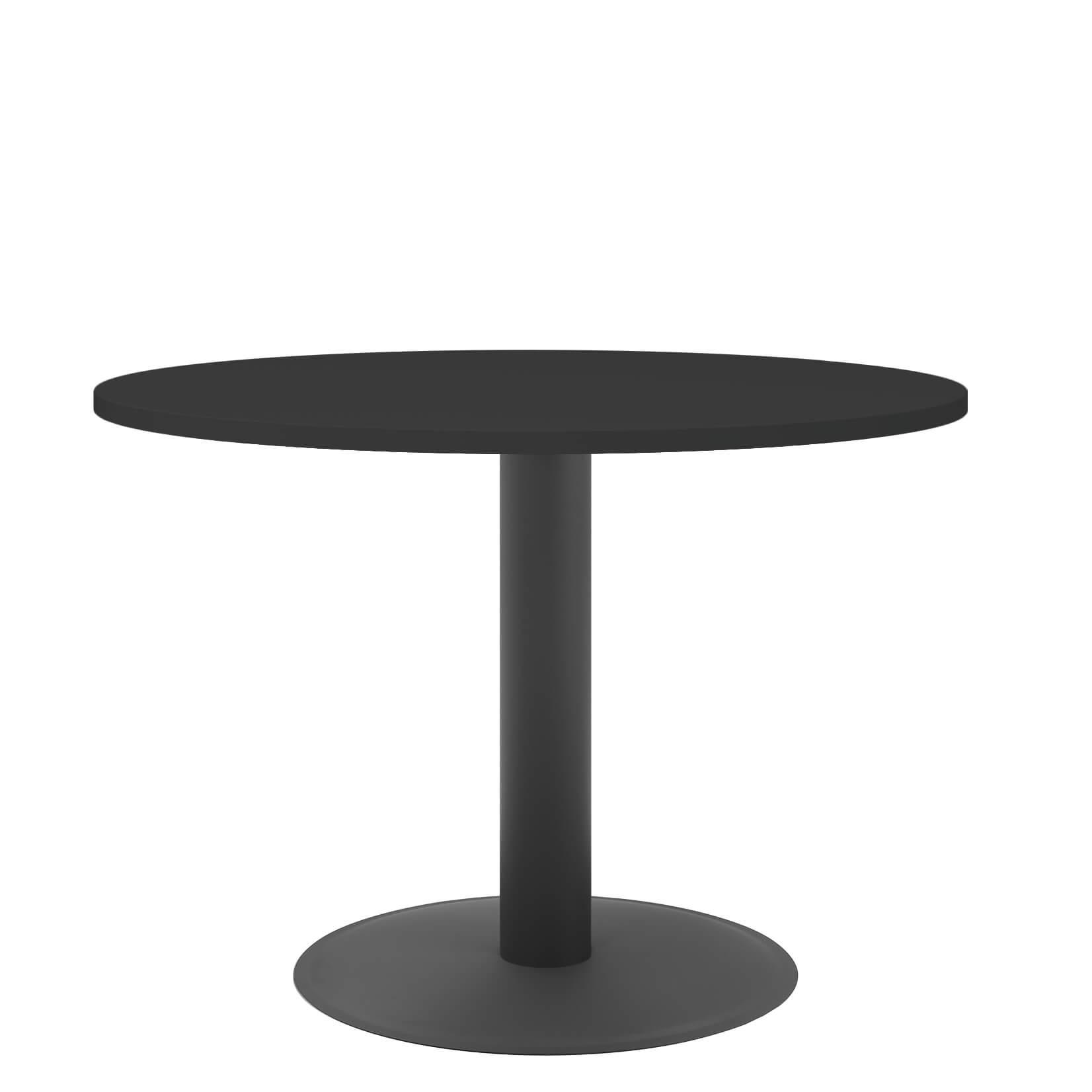 OPTIMA runder Besprechungstisch Ø 100 cm Anthrazit Anthrazites Gestell Tisch Esstisch