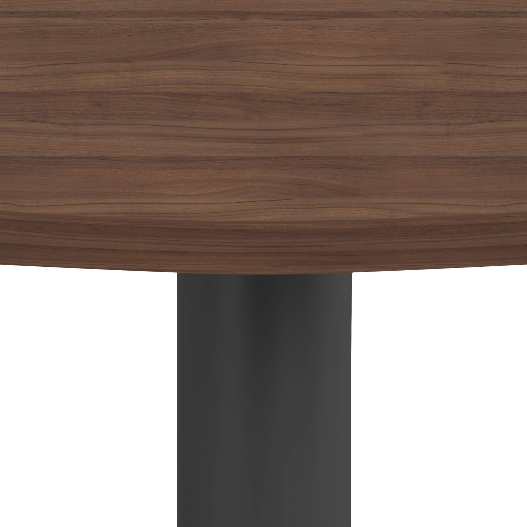 OPTIMA runder Besprechungstisch Ø 100 cm Nussbaum Anthrazites Gestell Tisch Esstisch