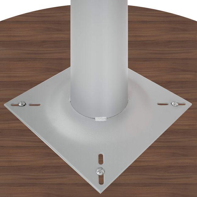 OPTIMA Besprechungstisch | Rund, Gestell Silber, Ø 1200 mm, Nussbaum