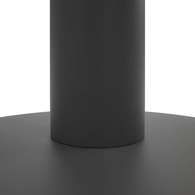 OPTIMA Besprechungstisch   Rund, Gestell Anthrazit, Ø 1200 mm, Nussbaum
