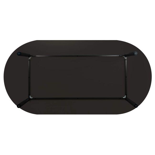 OPTIMA Konferenztisch   Oval, 2000 x 1000 mm, Anthrazit