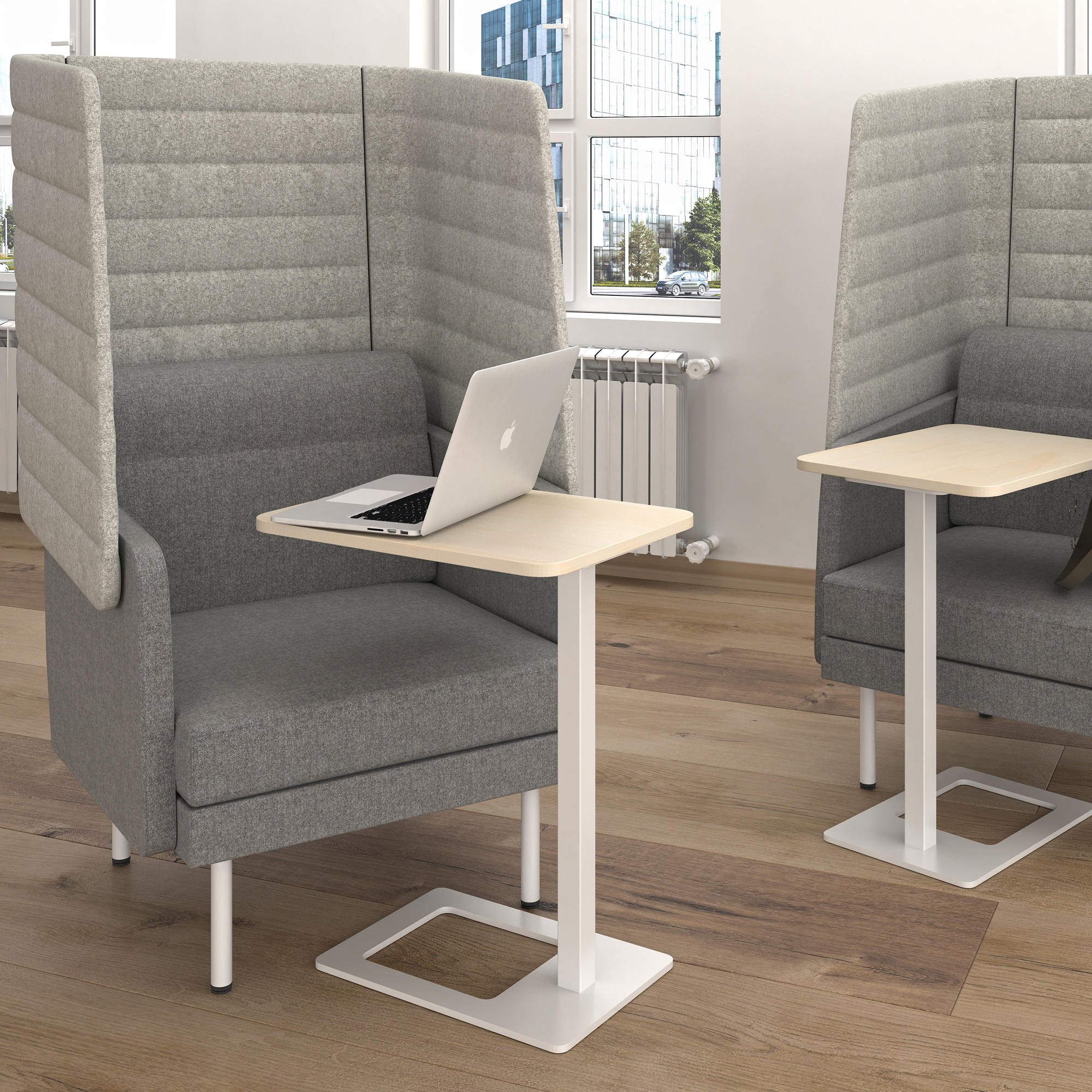 Mobiler Beistelltisch MOBI 400 x 500 mm mobiler Arbeitstisch Büro Kaffeetisch Ablagetisch