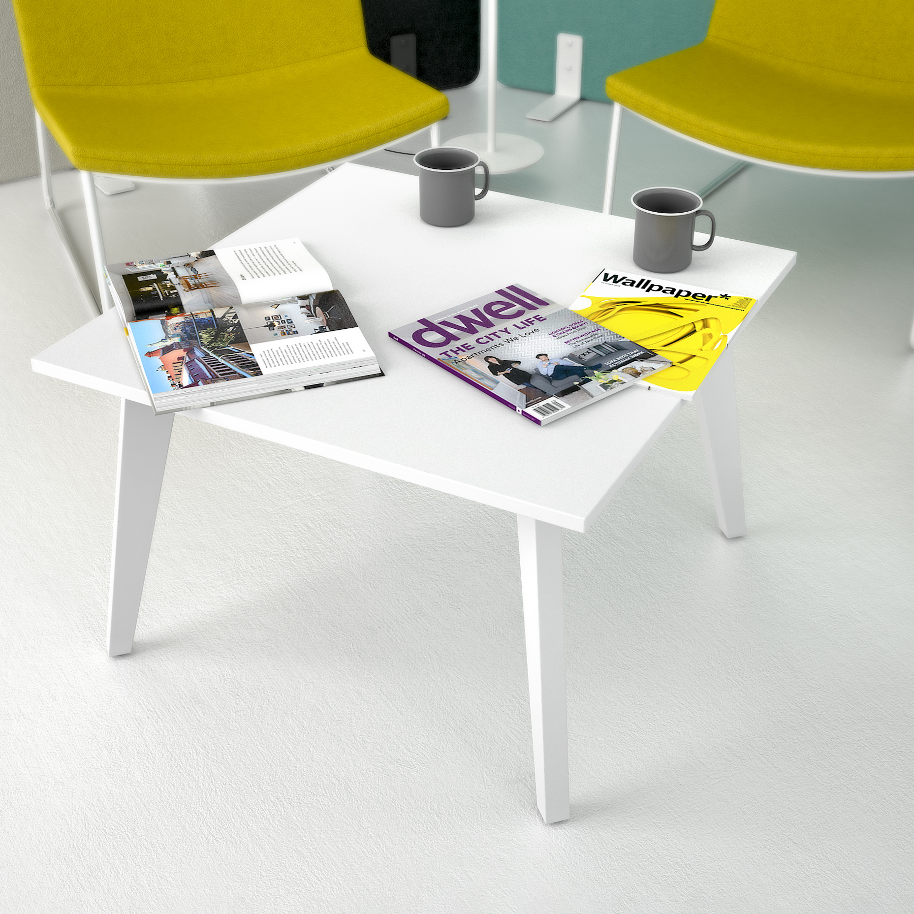 Beistelltisch AMBER quadratisch 700 x 700 mm Couchtisch Kaffeetisch Loungetable Loungetisch Ablagetisch