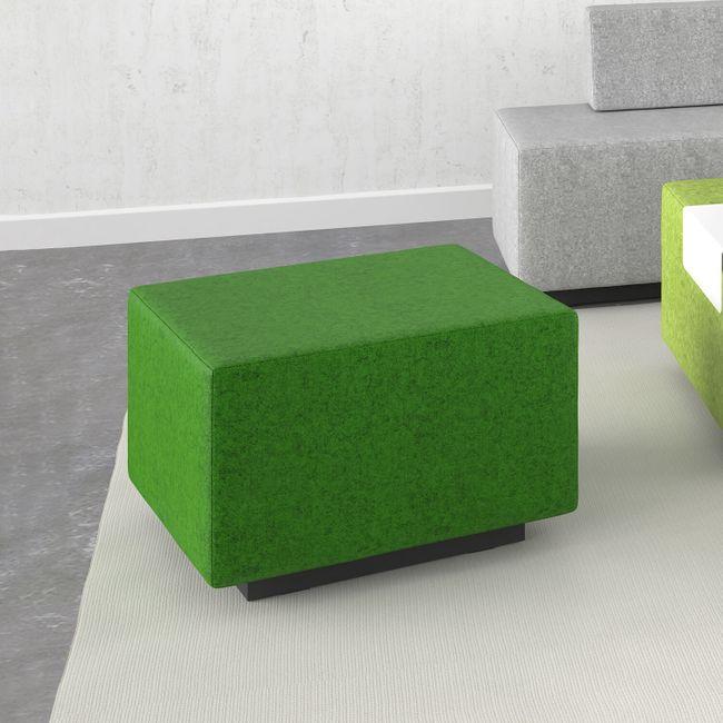 JAZZ Pouf / Sitzhocker   800 x 600 mm, Bezugsstoffe LUCIA / VELITO / SYNERGY