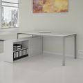 Chefschreibtisch mit Sideboard NOVA U 2.000 x 1.382 mm Weiß