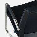 Freischwinger EVA mit gepolsterter Sitzfläche und Armlehnen in Schwarz