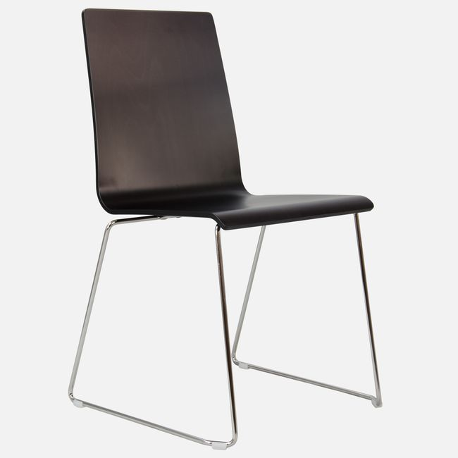 Besucherstuhl MOON Sitzfläche aus Holz Kufengestell – Bild 13