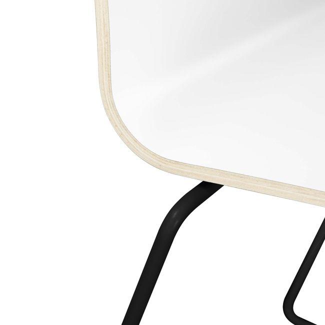 Besucherstuhl MOON Sitzfläche aus Holz Kufengestell – Bild 12