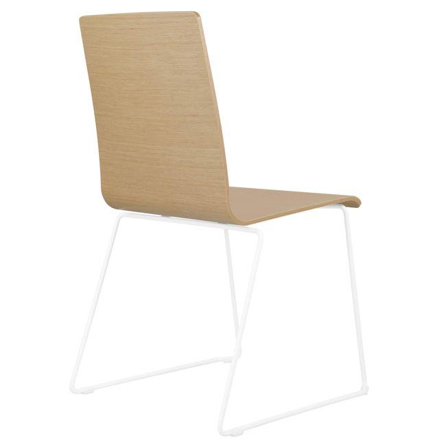 Besucherstuhl MOON Sitzfläche aus Holz Kufengestell – Bild 15