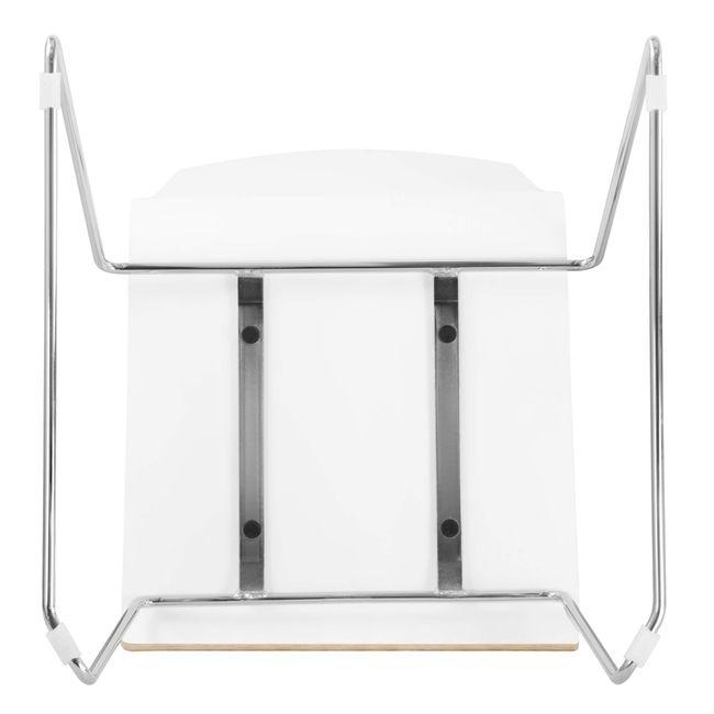 Besucherstuhl MOON Sitzfläche aus Holz Kufengestell – Bild 4