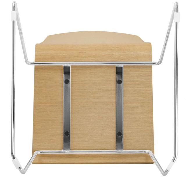 Besucherstuhl MOON Sitzfläche aus Holz Kufengestell – Bild 22