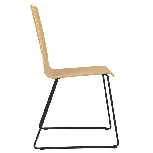 Besucherstuhl MOON Sitzfläche aus Holz Kufengestell – Bild 23