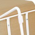 Besucherstuhl MOON Sitzfläche aus Holz Kufengestell