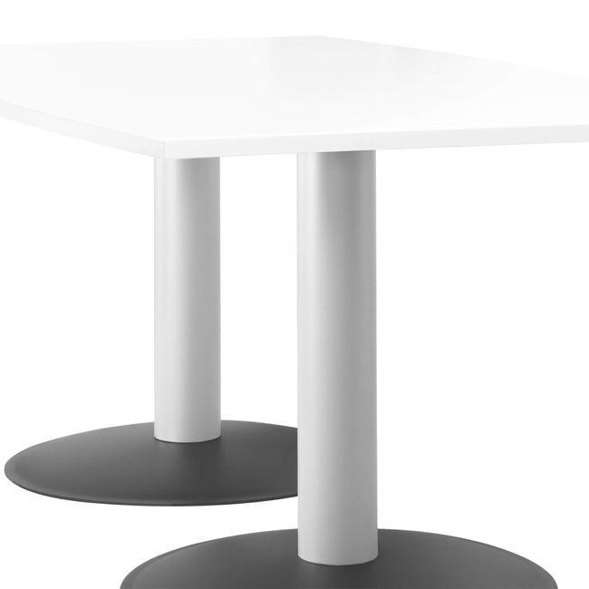 OPTIMA Konferenztisch   Bootsform, 1800 x 1000 mm (6 - 8 Personen), Weiß