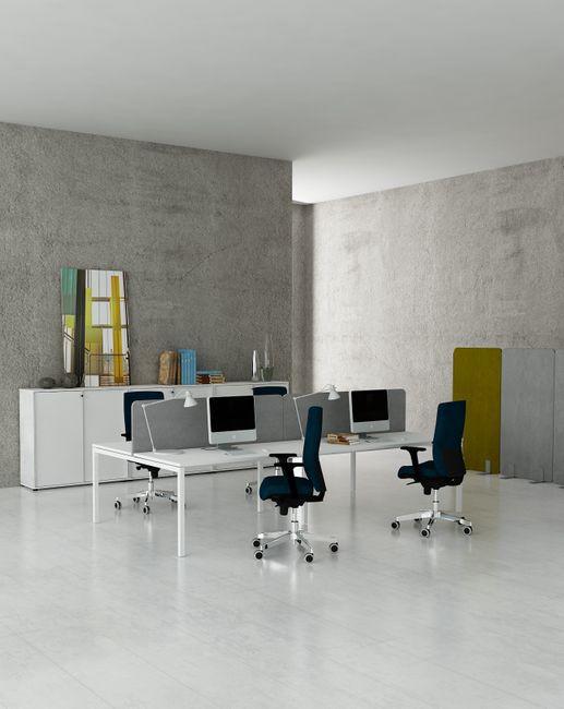2er Erweiterung Team-Schreibtisch NOVA U 1.600 x 1.640 mm Weiß – Bild 6