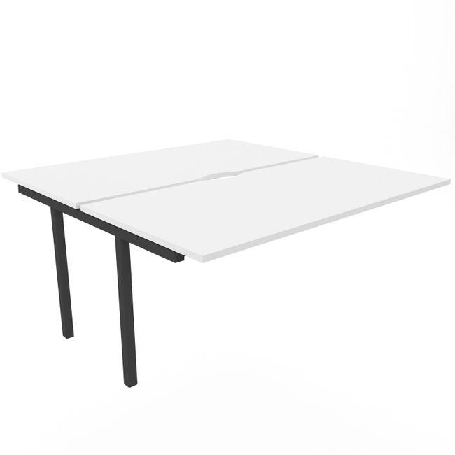 2er Erweiterung Team-Schreibtisch NOVA U 1.600 x 1.640 mm Weiß – Bild 2