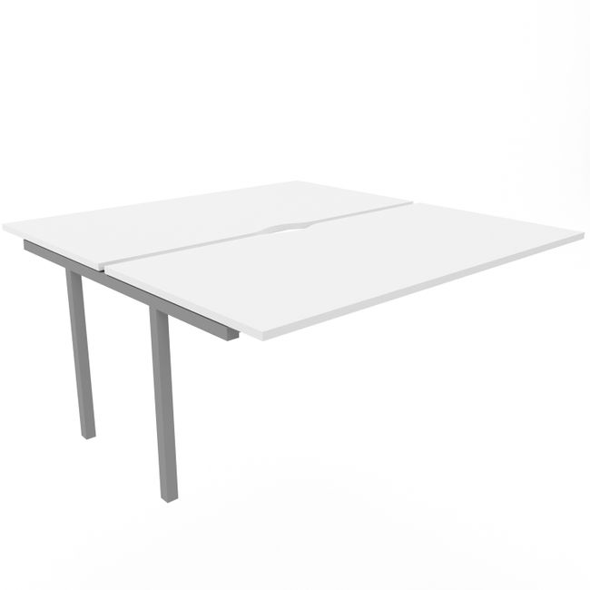 2er Erweiterung Team-Schreibtisch NOVA U 1.600 x 1.640 mm Weiß – Bild 3