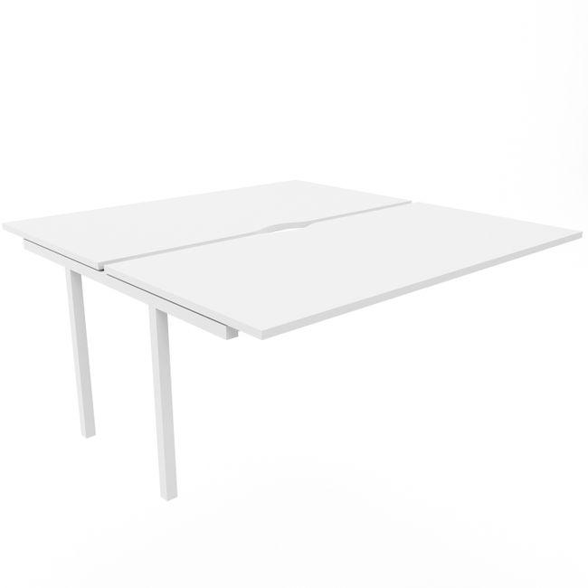 NOVA U 2er Erweiterung für Team-Schreibtisch 1.600 x 1.640 mm in Weiß